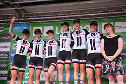 Sunweb are awarded the best team prize - Stage 5 of the OVO Energy Women's Tour - a 88.2 km road race, starting and finishing in London on June 11, 2017, in the United Kingdom. (Photo by Sean Robinson/Velofocus.com)