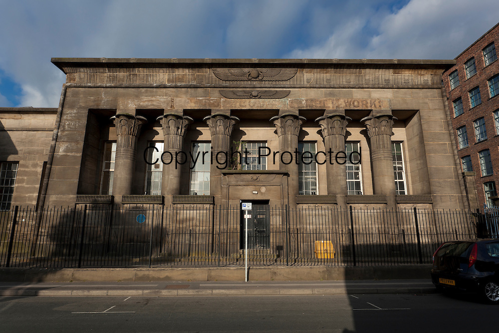 Temple Works is a former flax mill in Holbeck, Leeds, West Yorkshire. The design was based on the Temple of Horus at Edfu in Egypt with a chimney designed in the style of an obelisk It was built between 1836 and 1840.