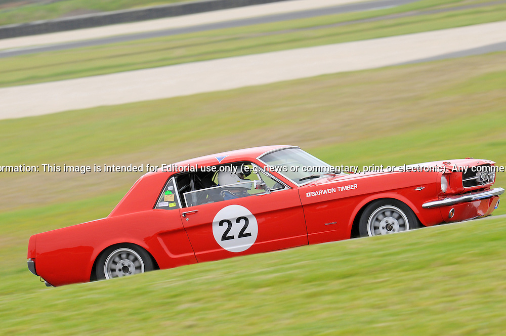 Bill Trengrove - Ford Mustang .Historic Motorsport Racing - Phillip Island Classic.18th March 2011.Phillip Island Racetrack, Phillip Island, Victoria.(C) Joel Strickland Photographics.Use information: This image is intended for Editorial use only (e.g. news or commentary, print or electronic). Any commercial or promotional use requires additional clearance.