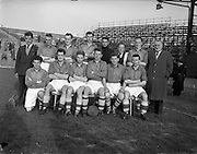 24/04/1957<br /> 04/24/1957<br /> 24 April 1957<br /> Soccer Top Four Competition  Semi-Final: Evergreen Utd v Sligo Rovers at Dalymount Park, Dublin. The Sligo Rovers team.