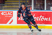KELOWNA, BC - FEBRUARY 23: Brodi Stuart #17 of the Kamloops Blazers warms up on the ice against the Kelowna Rockets at Prospera Place on February 23, 2019 in Kelowna, Canada. (Photo by Marissa Baecker/Getty Images)