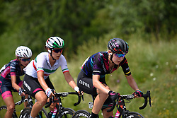 Amialiusik battles back to Cecchini and now guides her teammate over the climb at Giro Rosa 2016 - Stage 6. A 118.6 km road race from Andora to Alassio, Italy on July 7th 2016.