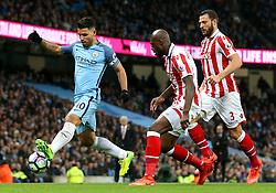 Sergio Aguero of Manchester City in action - Mandatory by-line: Matt McNulty/JMP - 08/03/2017 - FOOTBALL - Etihad Stadium - Manchester, England - Manchester City v Stoke City - Premier League