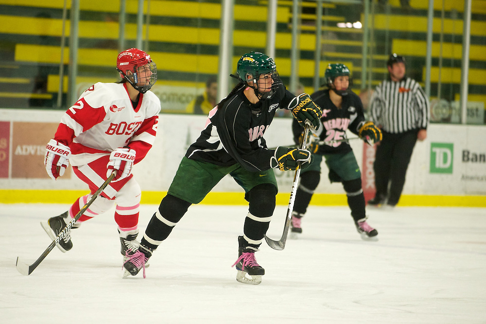 The women's hockey game between the Boston Terriers and the Vermont Catamounts at Gutterson Field House on January 22, 2011 in Burlington, Vermont.