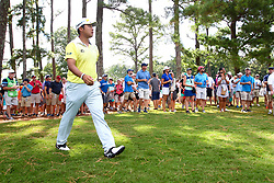 August 12, 2017 - Charlotte, North Carolina, United States - Hideki Matsuyama watches his shot out of the rough on the 8th hole during the third round of the 99th PGA Championship at Quail Hollow Club. (Credit Image: © Debby Wong via ZUMA Wire)