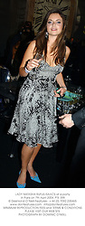 LADY NATASHA RUFUS-ISAACS at a party in Paris on 7th April 2004.PTE 398