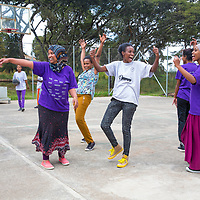 Hamlin midwives play a mean game of basketball at the midwifery college.