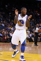 Mar 28, 2012; Oakland, CA, USA;  Golden State Warriors point guard Nate Robinson (2) during the first quarter against the New Orleans Hornets at Oracle Arena. Mandatory Credit: Jason O. Watson-US PRESSWIRE