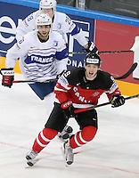Benjamin Dieude Fauvel /  Matt Duchene - 09.05.2015 - Canada  / France  - Championnats du Monde de Hockey sur Glace 2015 -Prague<br />Photo : Xavier Laine / Icon Sport