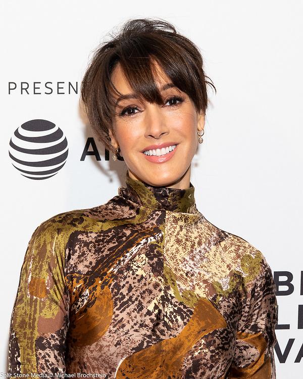 Jennifer Beals at the Tribeca Film Festival red carpet arrivals in New York City on April 24, 2018
