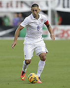 JACKSONVILLE, FL - JUNE 07:  Forward Clint Dempsey #8 of the United States dribbles during the international friendly match against Nigeria at EverBank Field on June 7, 2014 in Jacksonville, Florida.  (Photo by Mike Zarrilli/Getty Images)