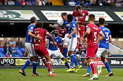 Aden Flint of Bristol City heads the ball towards goal - Mandatory by-line: Robbie Stephenson/JMP - 30/09/2017 - FOOTBALL - Portman Road - Ipswich, England - Ipswich Town v Bristol City - Sky Bet Championship