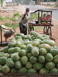 Street watermelon vendor, Mysore