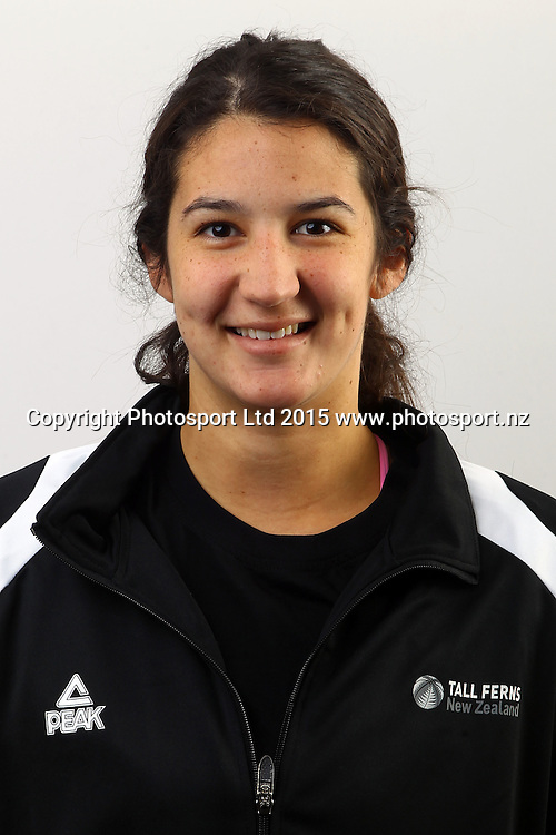 Tessa Boagni, New Zealand Tall Ferns, Womens National Basketball Team Headshots. Bruce Pullman Lodge, Auckland. 17 July 2015. Copyright Photo: William Booth / www.photosport.nz