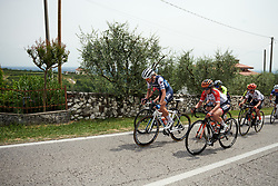 Tayler Wiles (USA) sets the pace on the climb to the first passage of the finish line during Stage 7 of 2019 Giro Rosa Iccrea, a 128.3 km road race from Cornedo Vicentino to San Giorgio di Perlena, Italy on July 11, 2019. Photo by Sean Robinson/velofocus.com