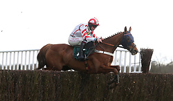 Red Infantry ridden by Robert Dunne on their way to victory in the 188Bet Stephen Allday Perpetual Plate Chase at Warwick Racecourse.