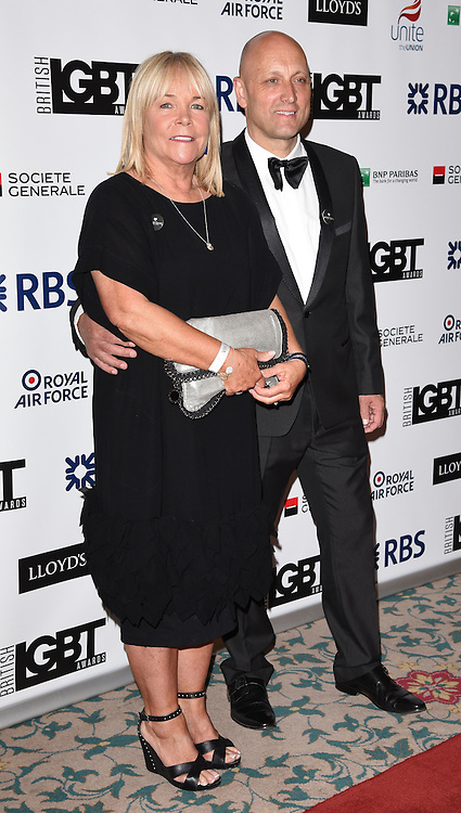 Linda Robson and Mark Dunford  attend The British LGBT Awards at The Landmark Hotel, London on Friday 24 April 2015