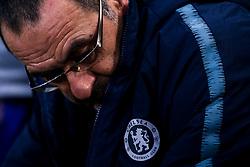 Chelsea manager Maurizio Sarri - Mandatory by-line: Robbie Stephenson/JMP - 18/04/2019 - FOOTBALL - Stamford Bridge - London, England - Chelsea v Slavia Prague - UEFA Europa League Quarter Final 2nd Leg
