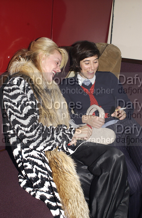 Daphne Niarchos and Bella Freud. party hosted by Harpers and Queen for Christian Louboutin 10 Anniversary. Met Bar. 16 October 2001. © Copyright Photograph by Dafydd Jones 66 Stockwell Park Rd. London SW9 0DA Tel 020 7733 0108 www.dafjones.com
