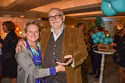 Pierre Koffman and Claire Harrison at the launch of the Fortnum & Mason Christmas & Other Winter Feasts Cook Book by Tom Parker Bowles held at Fortnum & Mason, 181 Piccadilly, London, England. 17 October 2018.