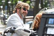 The Hitman's Bodyguard aan het filmen op de grachten in Amsterdam.<br /> <br /> he Hitman's Bodyguard filming on the canals in Amsterdam<br /> <br /> op de foto / On the photo: