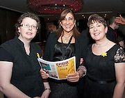 Something to sing about singers Jennifer Whelan, Heidi Monahan and Brenda Maguire who took part in the Choir Factor 2014 in the Radisson blu Hotel, Galway in aid of SCCUL Sanctuary at Kilcuan, Clarinbridge . Photo:Andrew Downes.