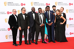 The cast of Time Wasters Samson Kayo and Daniel Lawrence Taylor attending the Virgin TV British Academy Television Awards 2018 held at the Royal Festival Hall, Southbank Centre, London.