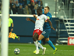 November 5, 2019, St. Petersburg, Russia: Russian Federation. Saint-Petersburg. Gazprom Arena. Football. UEFA Champions League. Group G. round 4. Football club Zenit - Football Club RB Leipzig. Player of Zenit football club Artyom Dziuba (22 (Credit Image: © Russian Look via ZUMA Wire)