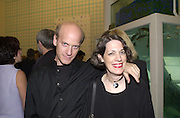 Mr. and Mrs. Timothy Greenfiled-Sanders. Damian Hirst opening reception and after party. Gagosian gallery and 118 10th Ave. New York. 23 September 2000.  © Copyright Photograph by Dafydd Jones 66 Stockwell Park Rd. London SW9 0DA Tel 020 7733 0108 www.dafjones.com