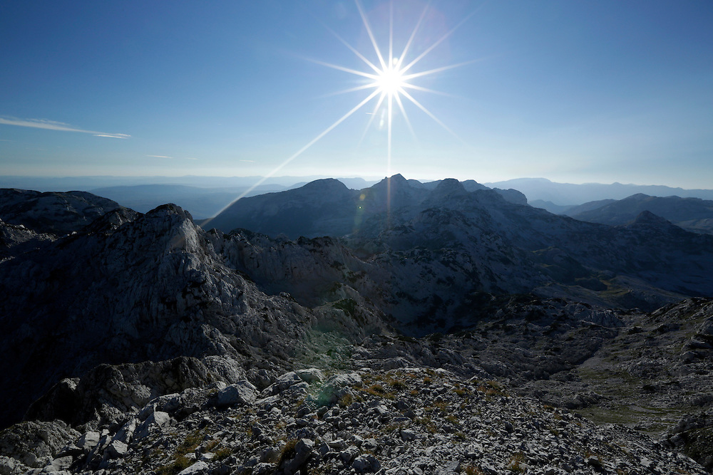 View from the summit of Zelena Glava, 2155m, Prenj mountain, Bosnia and Herzegovina.