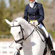 Janne Rumbough and Winnie Too during the 2013 Wellington Classic Dressage Sunshine Challenge at the Jim Brandon Equestrian Center in West Palm Beach, Florida.
