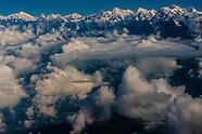 Nepal-Aerial views of Himalayas