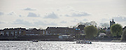 London, Great Britain, left Oxford open a clear water advantage over Cambridge as Both Crews pass Chiswick Eyot during,  The Newton Women's Boat Race, Men's Race , Championship Course.  River Thames. Putney to Mortlake. ENGLAND. <br /> <br /> 16:56:55  Saturday  11/04/2015<br /> <br /> [Mandatory Credit; Peter Spurrier/Intersport-images]<br /> <br /> OUWBC Crew: <br /> Maxie SCHESKE, Anastasia CHITTY, Shelley PEARSON, Lauren KEDAR, Maddy BADCOTT, Emily REYNOLDS, Nadine GRAEDEL IBERG, Caryn DAVIES and Cox Jennifer EHR The Newton Women's Boat Race, Men's Race , Championship Course.  River Thames. Putney to Mortlake. ENGLAND. <br /> <br /> 17:01:02  Saturday  11/04/2015<br /> <br /> [Mandatory Credit; Peter Spurrier/Intersport-images]<br /> <br /> OUWBC Crew: <br /> Maxie SCHESKE, Anastasia CHITTY, Shelley PEARSON, Lauren KEDAR, Maddy BADCOTT, Emily REYNOLDS, Nadine GRAEDEL IBERG, Caryn DAVIES and Cox Jennifer EHR