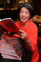 Launch of Yo!Sushi cookbook. Kim Barber, the author of the book.