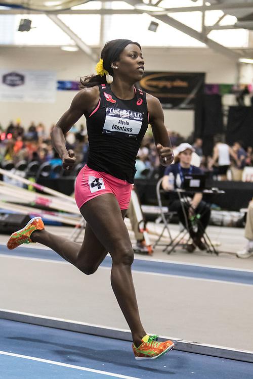 USATF Indoor Track & Field Championships: womens 600, Alysia Montano, asics, NYAC