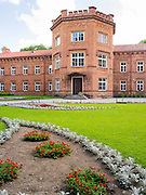 The Raudone Castle, which is now a school; Raudone, Lithuania.