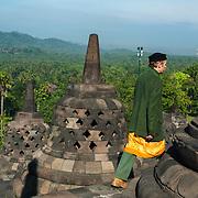 De Borobudur is een 9e eeuws Boeddhistische tempel gelegen bij de stad Jogjakarta op Midden-Java, Indonesië. de Borobudur is UNESCO werelderfgoed.