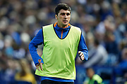 Fernando Forestieri of Sheffield Wednesday warming up during the EFL Sky Bet Championship match between Sheffield Wednesday and Luton Town at Hillsborough, Sheffield, England on 20 August 2019.