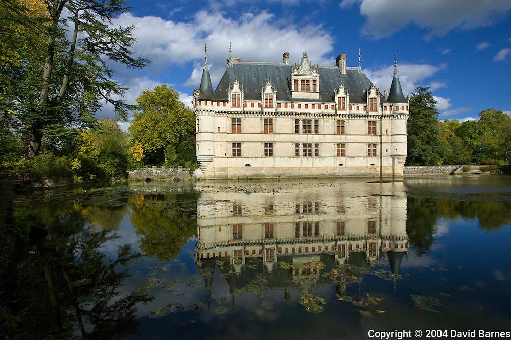 Chateau of Azay-le-Rideau, Indre-et-Loire, Loire Valley, France