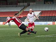 Steve Martin scores the opener - Dundee Argyle v Dykehead AFC in the Scottish Sunday Trophy semi final at Excelsior Stadium, Airdrie, Photo: David Young<br /> <br />  - &copy; David Young - www.davidyoungphoto.co.uk - email: davidyoungphoto@gmail.com