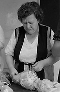 Miners wives and members of womens support groups make up food parcels for striking miners families during the 1984-85 strike...© Martin Jenkinson, tel 0114 258 6808 mobile 07831 189363 email martin@pressphotos.co.uk. Copyright Designs & Patents Act 1988, moral rights asserted credit required. No part of this photo to be stored, reproduced, manipulated or transmitted to third parties by any means without prior written permission.
