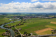 Nederland, Noord-Holland, Weesp, 14-06-2012; Bloemendaler polder, ingeklemd tussen A1 en Weesp. Er zijn plannen om recreatie en wonen in de polder te 'ontwikkelen'..Polder in between the roadway A1 and the village of Weesp near Amsterdam, is subject of plans to be developed for residential an recreational purposes..luchtfoto (toeslag), aerial photo (additional fee required).foto/photo Siebe Swart