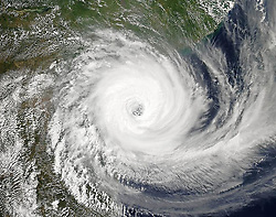 March 11, 2019 - Mozambique - NASA Satellite Image of Cyclone Idai in Mozambique Channel. Tropical cyclone Idai cut a swathe through Mozambique, Zimbabwe and Malawi, the confirmed death toll stood at more than 300 and hundreds of thousands of lives were at risk. (Credit Image: © NASA Earth/ZUMA Wire/ZUMAPRESS.com)