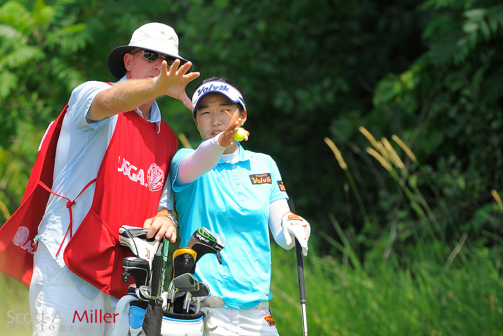 Ilhee Lee during the first round of the US Women's Open at Blackwolf Run on July 5, 2012 in Kohler, Wisconsin. ..©2012 Scott A. Miller