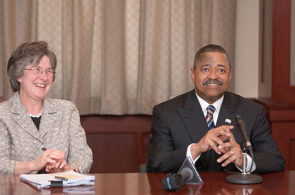 """McDavis to share budget news, plans for academic priorities.Address to be held at noon Monday.May 3, 2007..Ohio University President Roderick J. McDavis will share how the latest budget news from Columbus could benefit Ohio University and will announce new plans regarding the university's academic priorities during an address to the campus at noon Monday, May 7, in Baker University Center Ballroom B...""""Governor Strickland has focused policymakers on the urgent need to support higher education in Ohio, and House Speaker Husted has introduced a very positive budget bill,"""" McDavis said. """"I am encouraged by these developments, and I want to talk with the campus about what this means for the university and how we will invest any additional new resources from the state.""""..McDavis said he also will talk about some changes he will introduce to strengthen Ohio's educational programs...""""I am excited about these new plans regarding the university's academic priorities, and I look forward to sharing them with faculty, staff and students on Monday,"""" he said. """"Ohio University has a proud history of academic excellence. I am inviting the campus community to join me in working together long-term to advance that excellence.""""..McDavis' address can be viewed through a live Webcast available from the university's front door at www.ohio.edu...The news media is invited to attend a media briefing immediately after the speech in the president's dining room on the fourth floor of Baker University Center."""