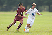 Gloucester County College Defender Giuseppe Bua (6); Community College of Morris Midfielder Juan Ocampo (9)..Gloucester County College hosts the Community College of Morris on Monday October 10, 2011.