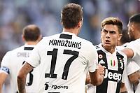 esultanza gol Mario Mandzukic  Goal celebration witH Paulo Dybala Juventus <br /> Torino 29-09-2018 Allianz Stadium Football Calcio Serie A 2018/2019 Juventus - Napoli <br /> Foto Matteo Gribaudi / Image Sport  / Insidefoto