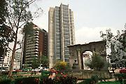 ECUADOR, QUITO, NEW CITY Banks near Avenida Amazonas