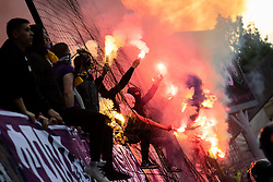Fans of Maribor during football match between NK Maribor and Olimpija Ljubljana in 32nd Round of Prva liga Telekom Slovenije 2018/19, on May 11, 2019 in Ljudski Vrt, Maribor, Slovenia. Photo by Blaž Weindorfer / Sportida