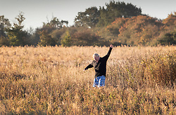 © Licensed to London News Pictures. 01/10/2018. Thame, UK. Boris Johnson waves at photographers as he runs near his Oxfordshire home. The former foreign secretary is due to attend Conservative Party Conference this week. Photo credit: Peter Macdiarmid/LNP